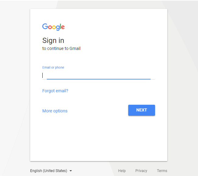 Login to gmail with your details