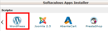 Locate Softaculous App Installer Section