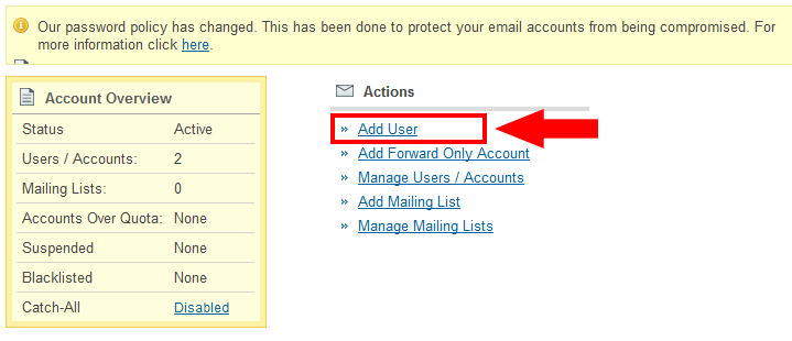 Create new user for free email
