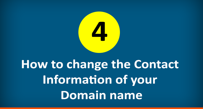 How to change the contact information of a domain name
