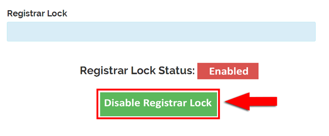 Disable Registrar Lock at Web4Africa