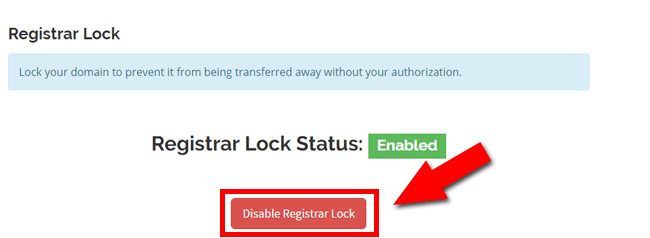 Disable Registrar Lock at Whogohost