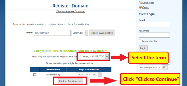 Check your domain name availability