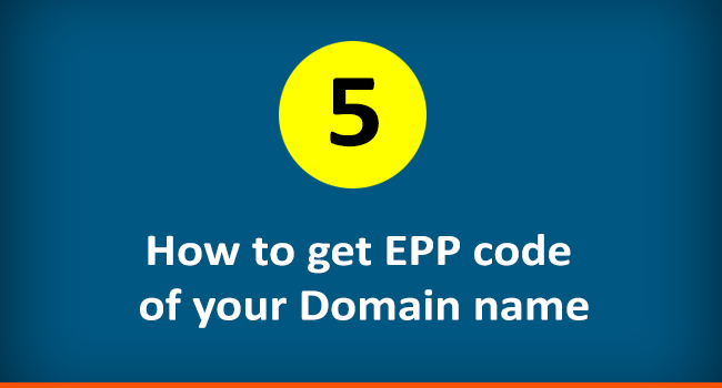 How to get EPP code of a domain name