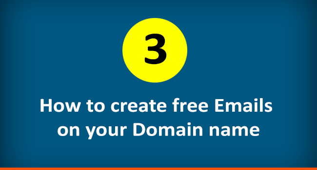 Create free emails with domain name