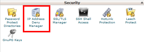 IP Address Deny Manager in cPanel