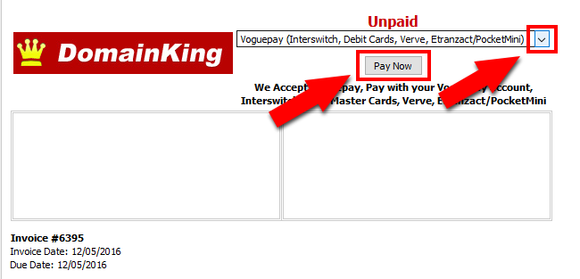 Select Payment Method and Pay the Invoice