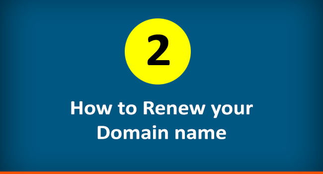 How to renew a domain name