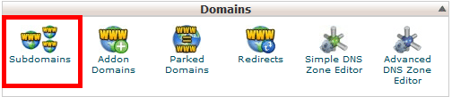 Subdomain in cPanel