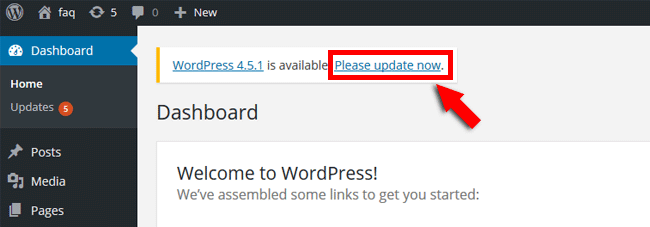 Update WordPress manually