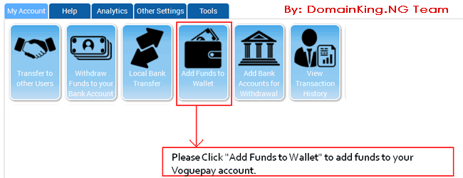Voguepay Add Funds Page